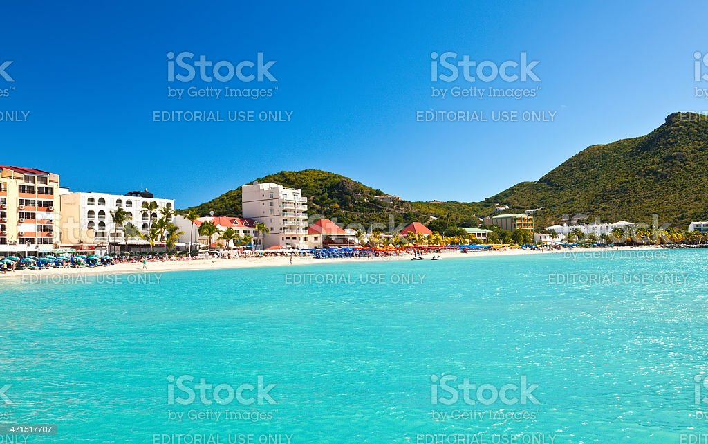 Philipsburg, St. Maarten royalty-free stock photo