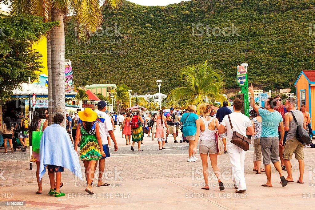 Philipsburg, St. Maarten stock photo