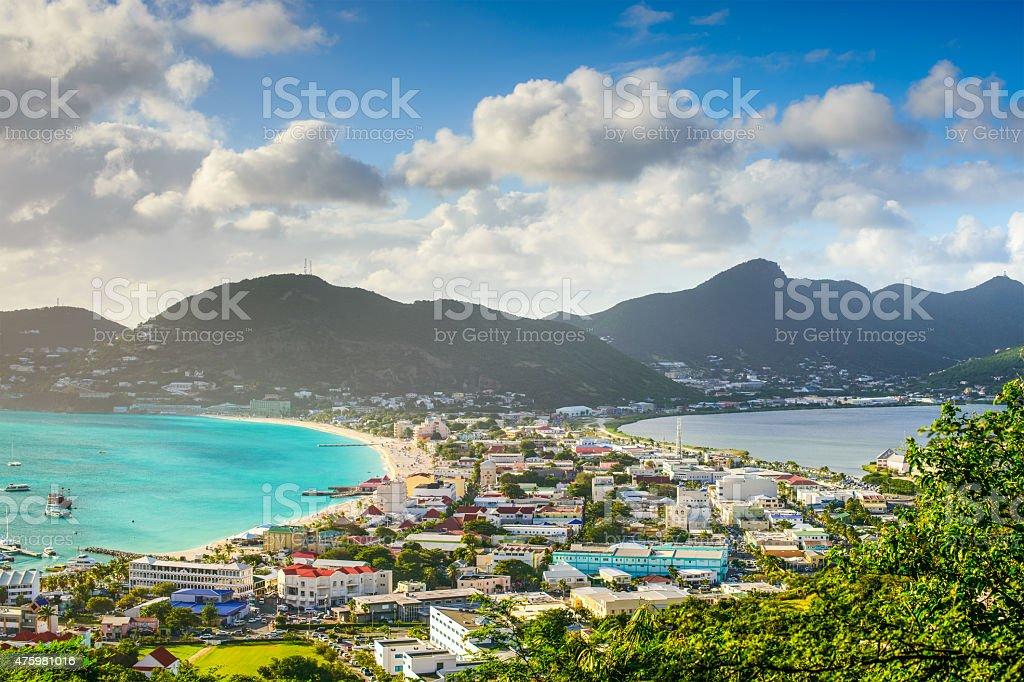Philisburg, Sint Maarten stock photo
