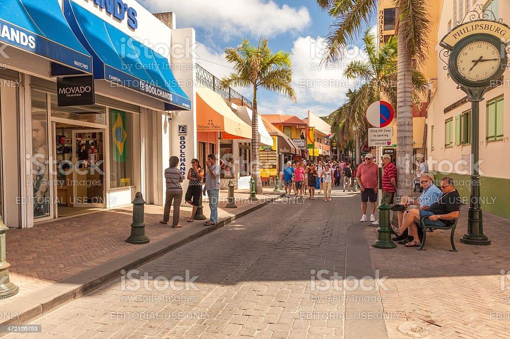 Philispburg, St. Maarten stock photo