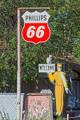 Phillips 66 and Service Station Attendant Signs