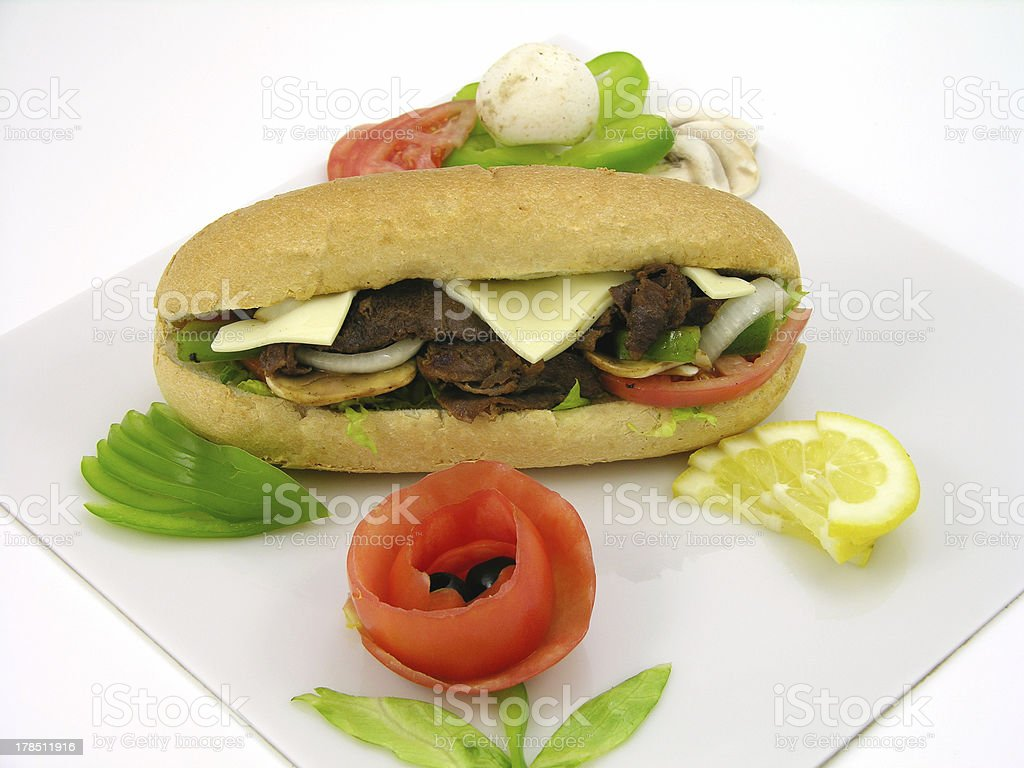 philly cheese steak ing-comp royalty-free stock photo