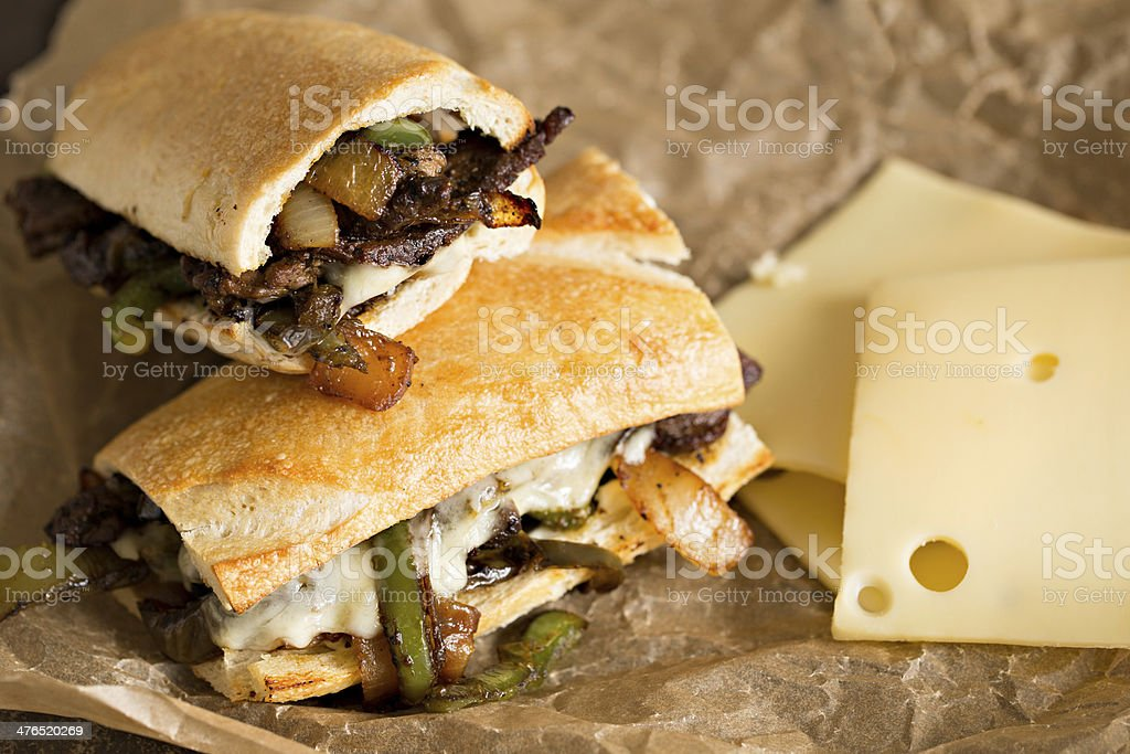 Philly Steak Sandwich stock photo