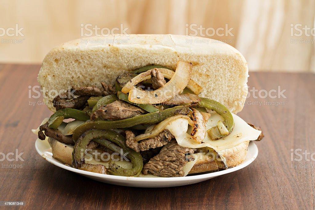 Philly Steak Sandwich royalty-free stock photo