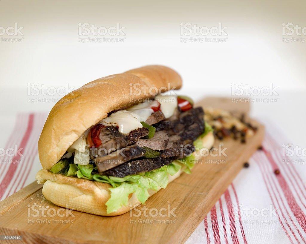Philly Steak Sub Sandwich royalty-free stock photo