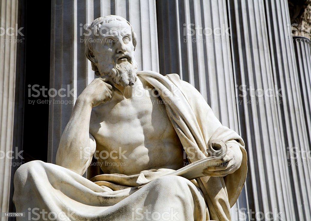 philosopher from vienna parliament stock photo