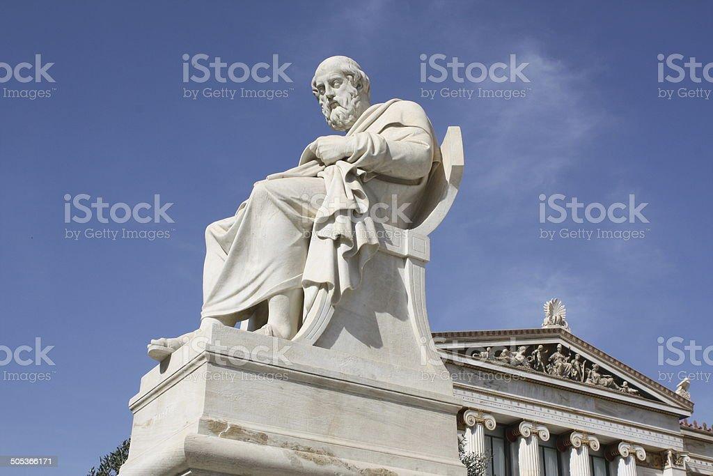 Philosopher Plato in Athens stock photo