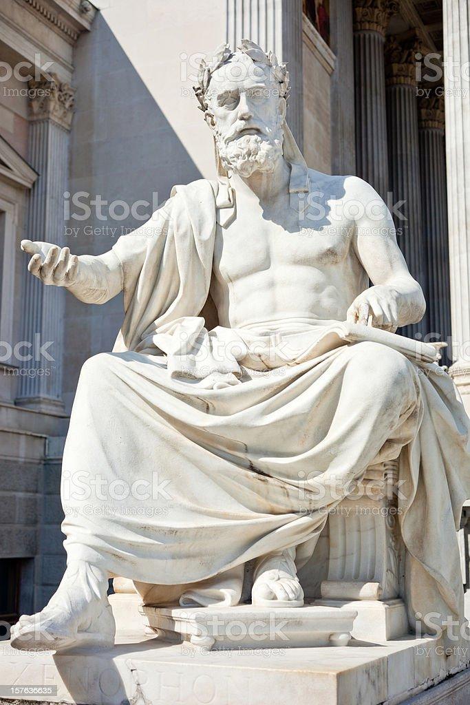 Philosopher Xenophon stock photo