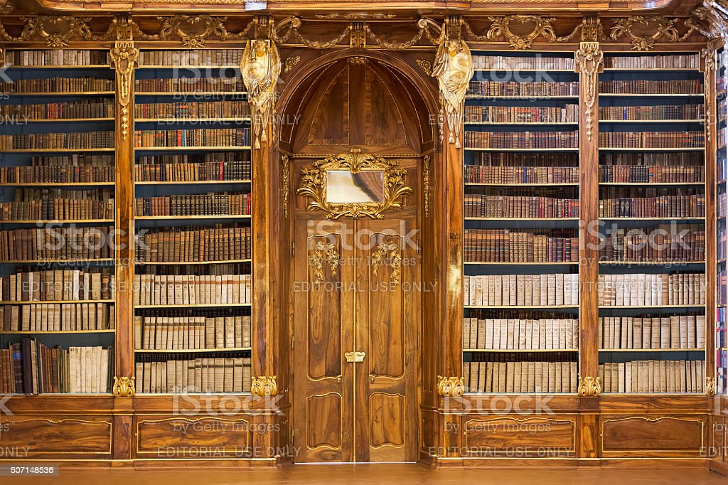 Philosophical Hall of the Strahov Monastery Library stock photo