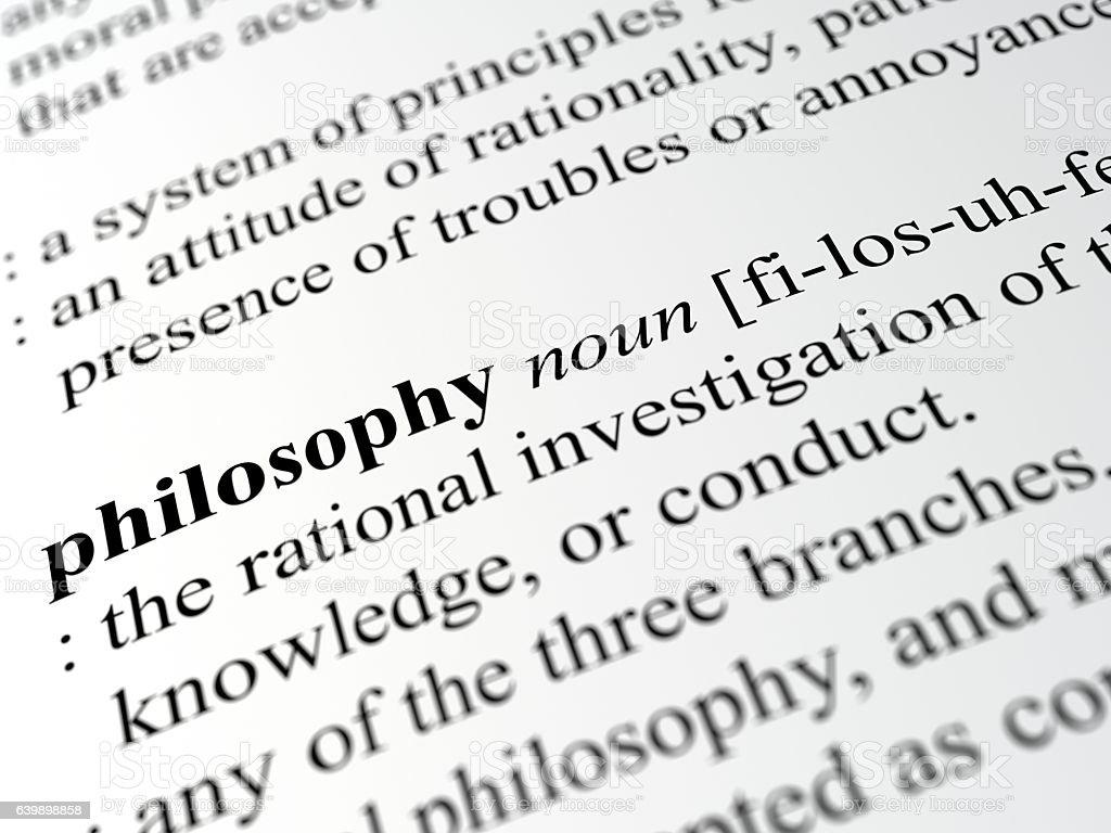 philosophy stock photo