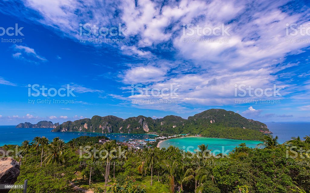 PhiPhi Don Hight View stock photo
