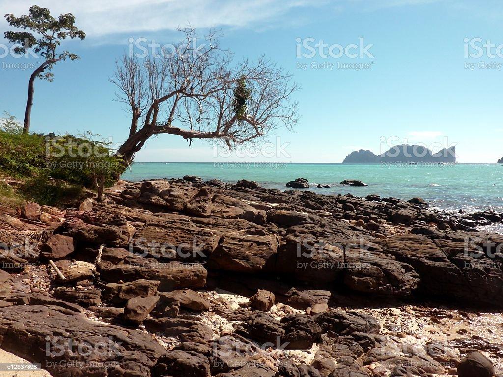 PhiPhi island seascape, Thailand stock photo