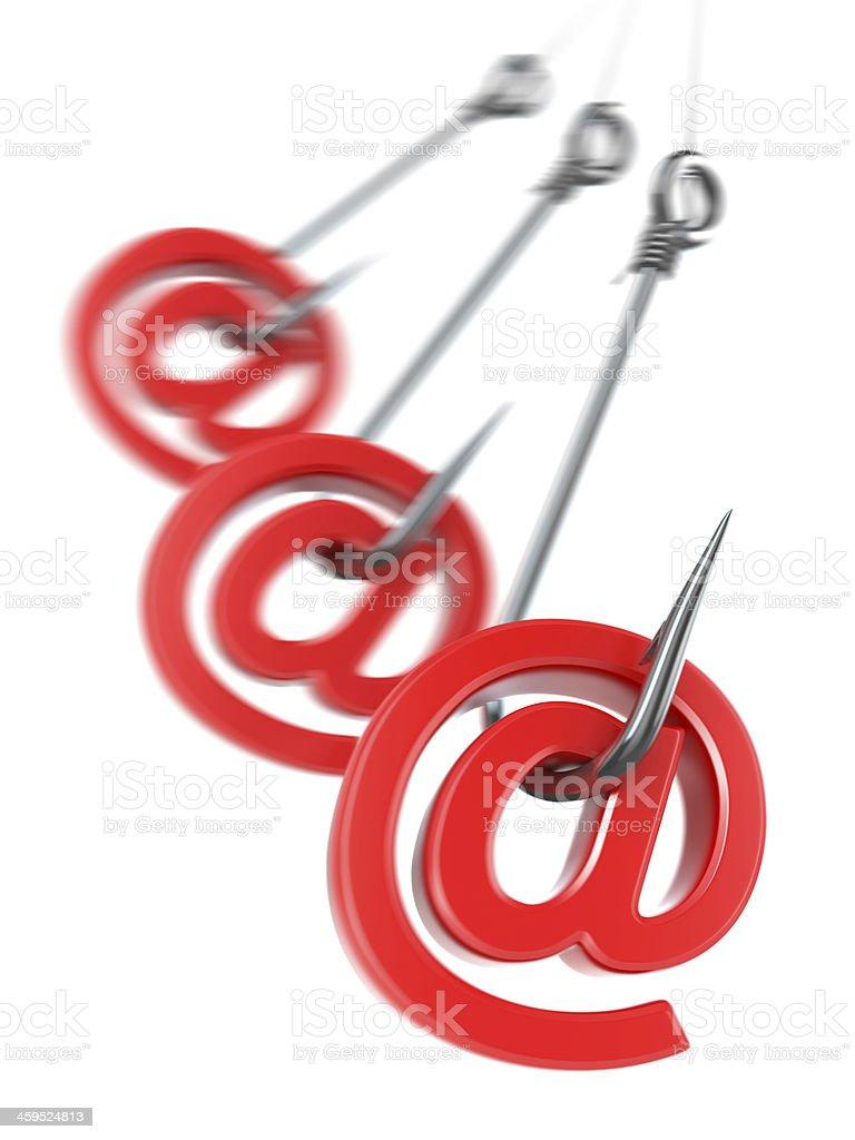 Phishing e-mail. 3d royalty-free stock photo