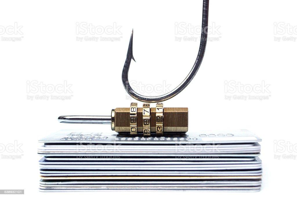 Phishing protection stock photo