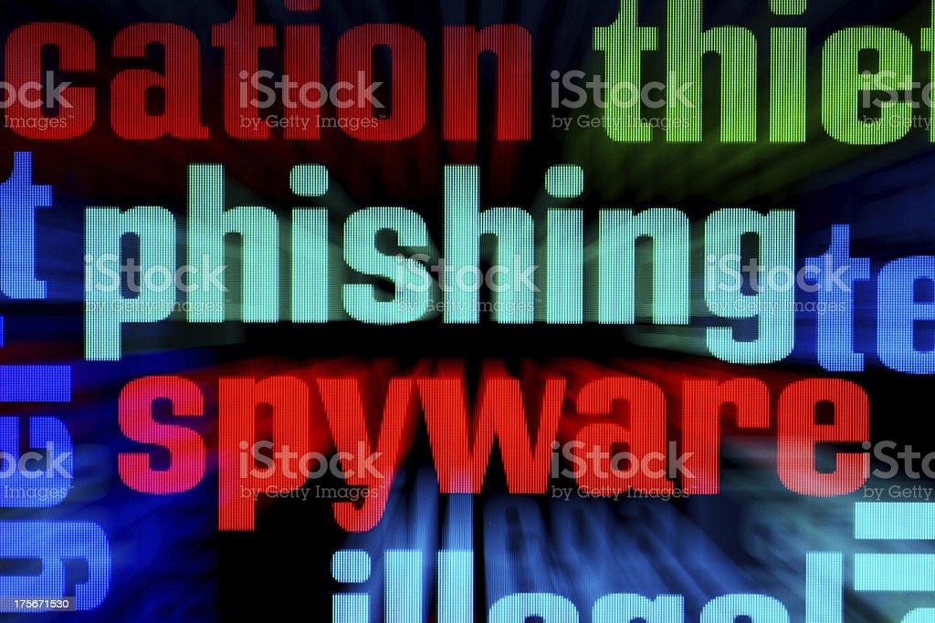 Phishing spyware royalty-free stock photo