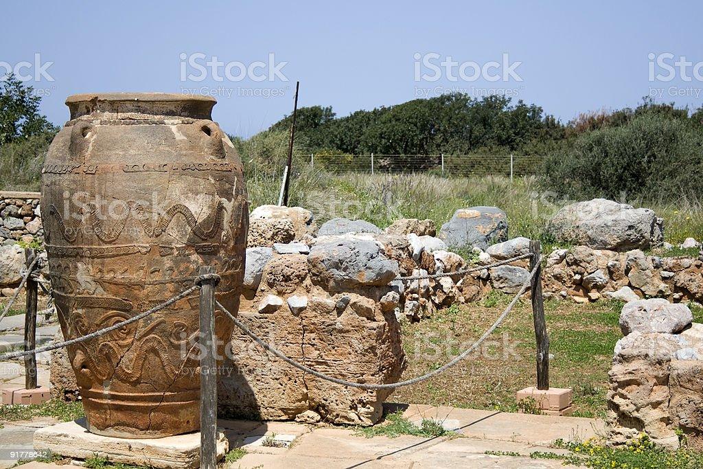 Phitos in minoan Palace of Malia - Crete stock photo