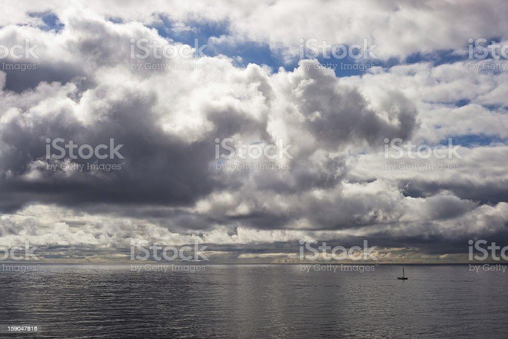 Phlegmatic Sea stock photo