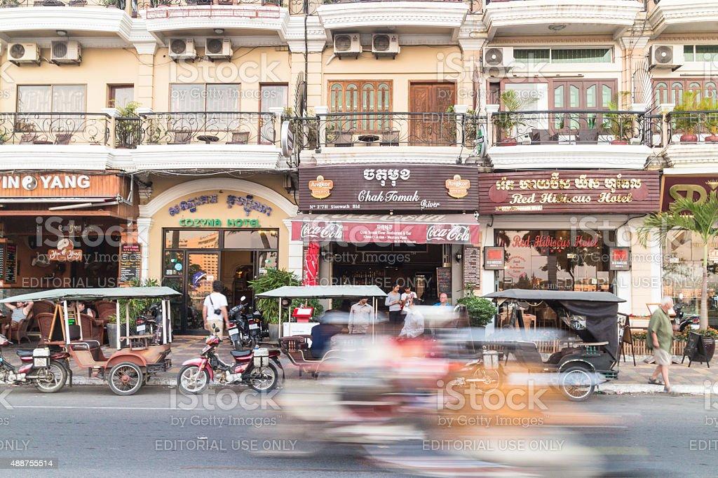 Phnom Penh rush stock photo