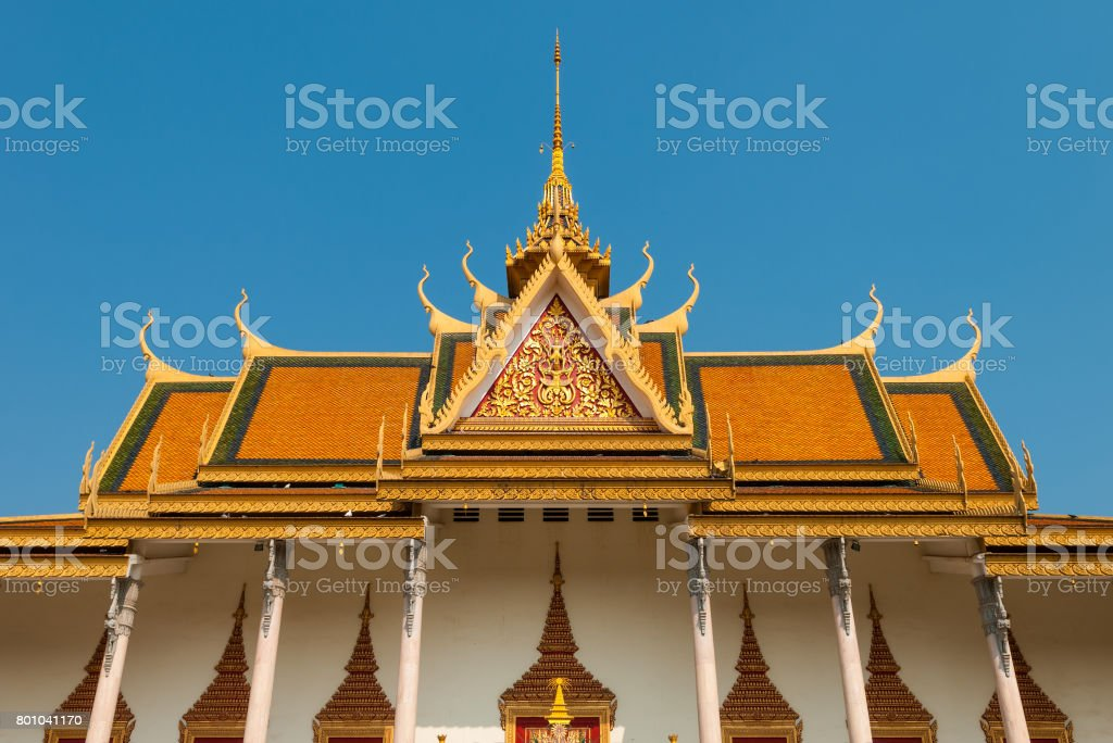Phnom Penh Silver Pagoda Facade stock photo