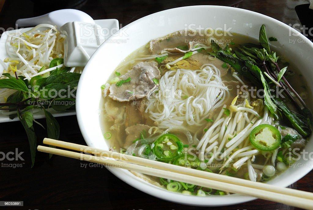 Pho noodles stock photo