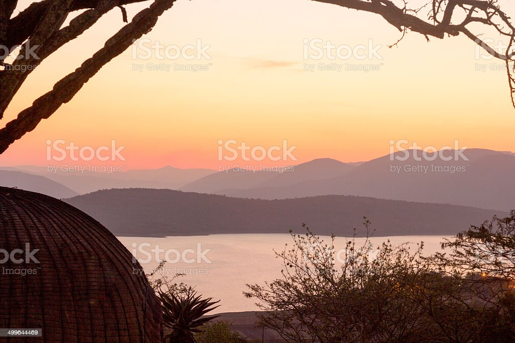 Phobane Lake in KwaZulu-Natal, South Africa royalty-free stock photo