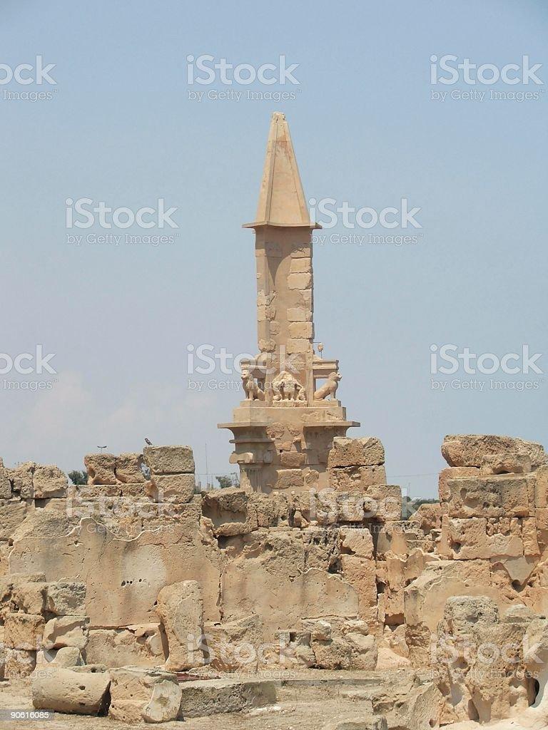 Phoenician Obelisque royalty-free stock photo
