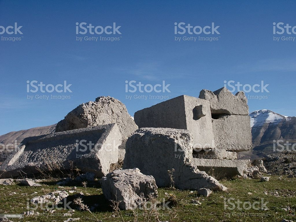Phoenician Sarcophagi, Lebanon stock photo
