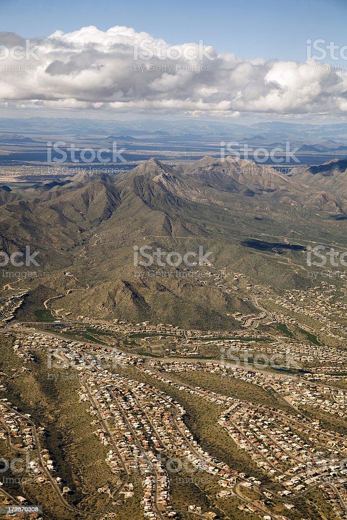 Phoenix, Arizona Region Suburban Development royalty-free stock photo