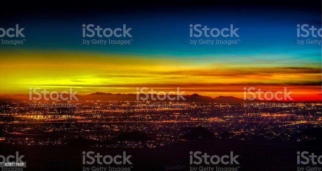 Phoenix Arizona Sunset stock photo