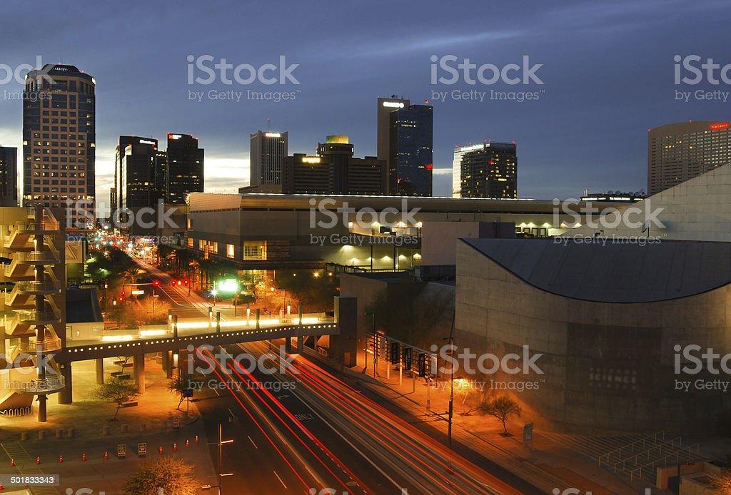 Phoenix, AZ skyline stock photo