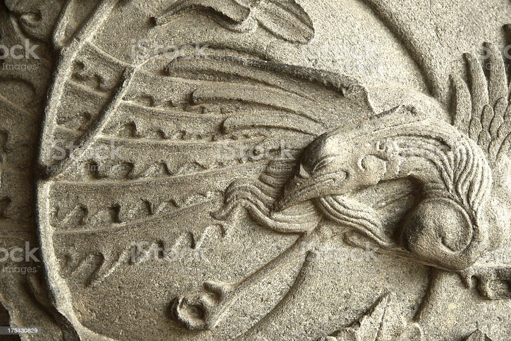Phoenix carving royalty-free stock photo