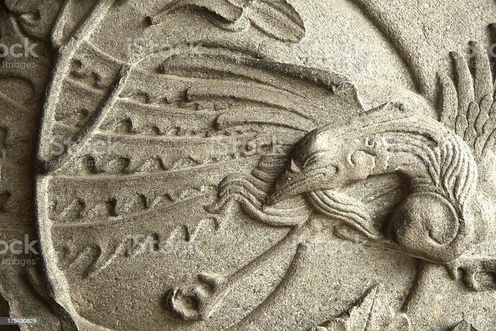 Phoenix carving stock photo