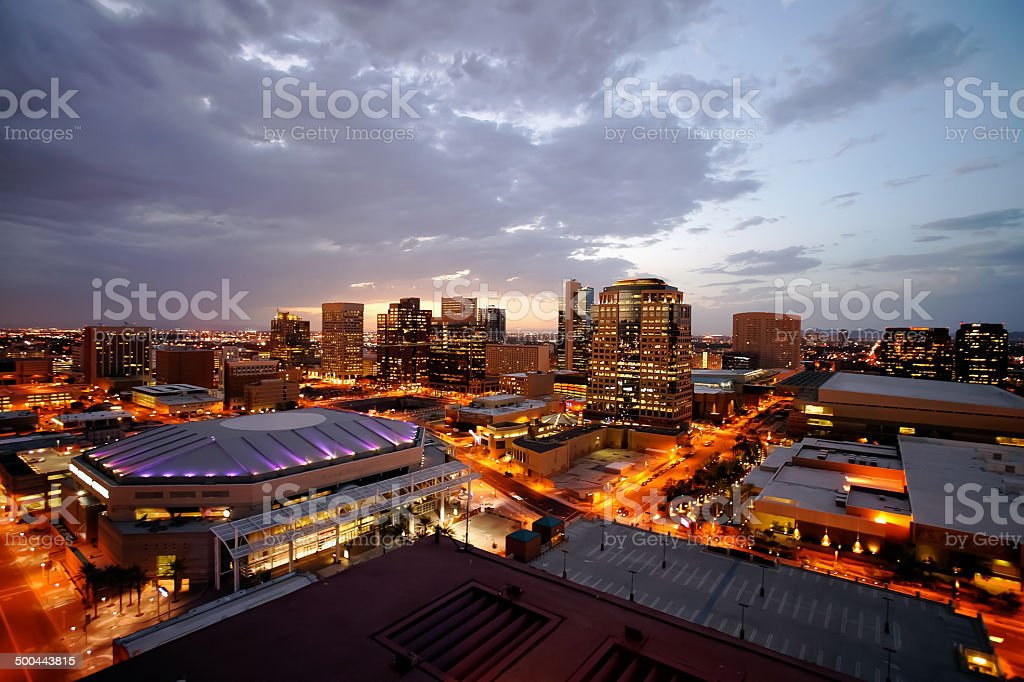 Phoenix Downtown Lights stock photo