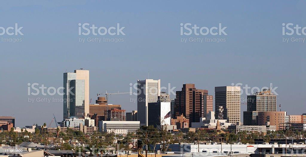 Phoenix Downtown Panorama, AZ royalty-free stock photo