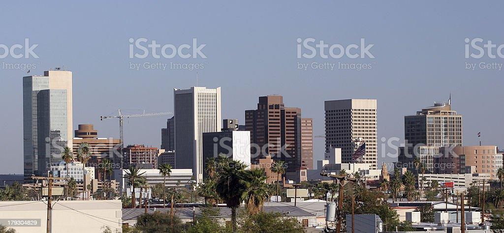 Phoenix Downtown Roofs, AZ royalty-free stock photo