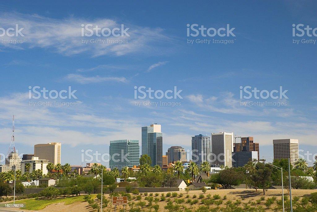 Phoenix downtown skyline royalty-free stock photo