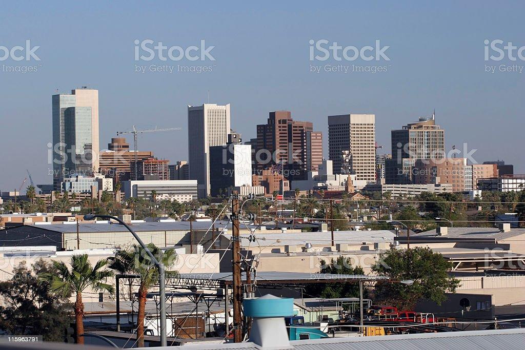 Phoenix Industrial Downtown, AZ royalty-free stock photo