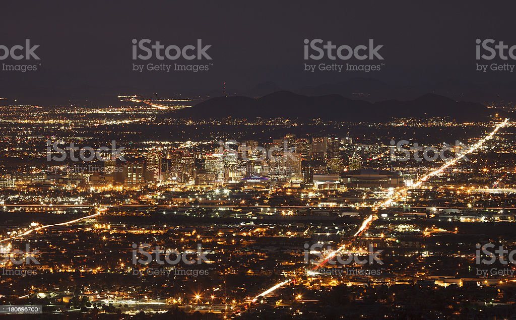 Phoenix Lights stock photo