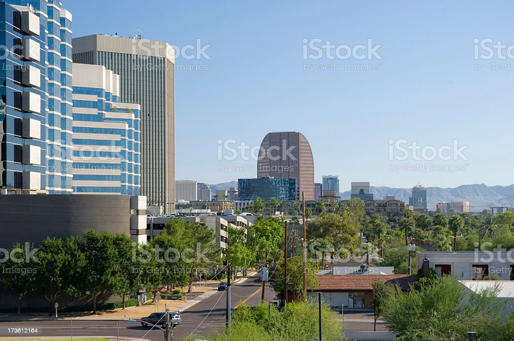 Phoenix Midtown and Downtown view royalty-free stock photo