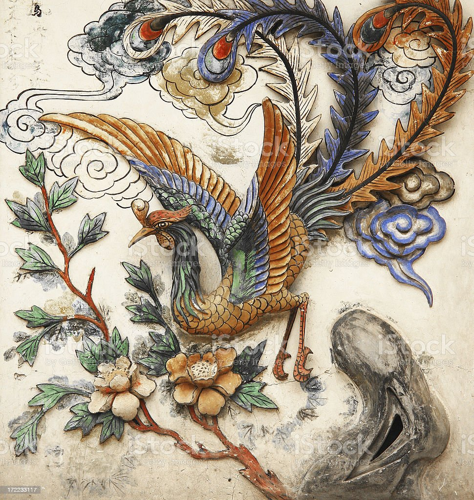 Phoenix on a wall royalty-free stock photo
