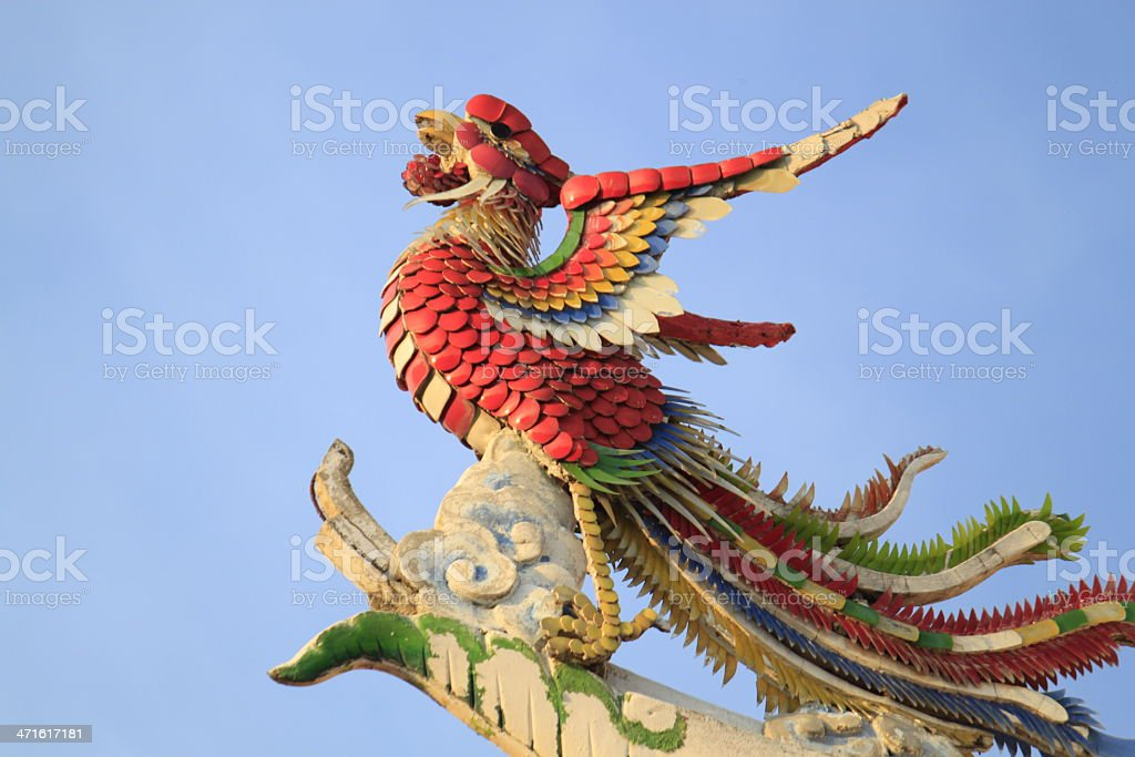 Phoenix on Chinese Temple. royalty-free stock photo