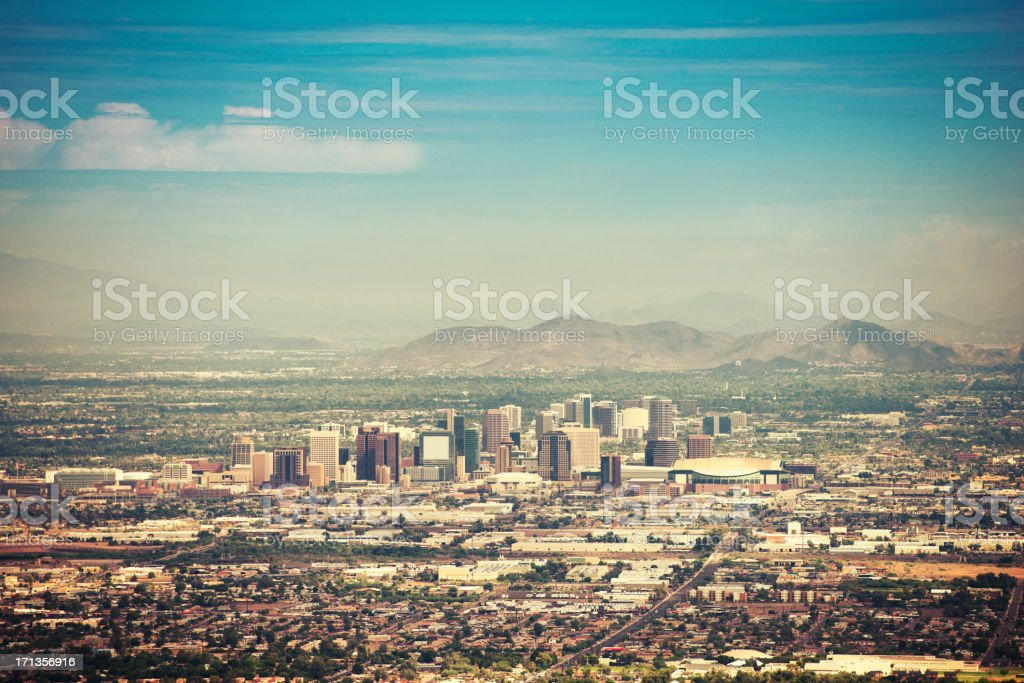 Phoenix skyline at dusk royalty-free stock photo