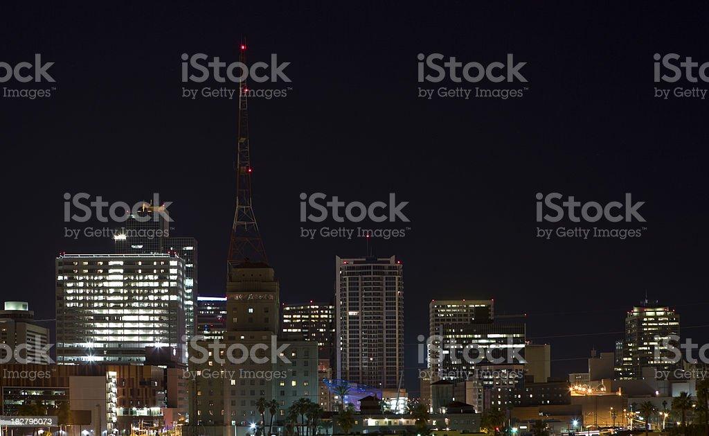 Phoenix Skyline at Night royalty-free stock photo