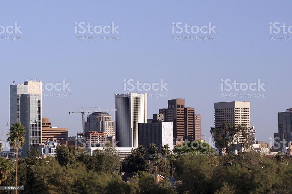 Phoenix Skyline, AZ royalty-free stock photo
