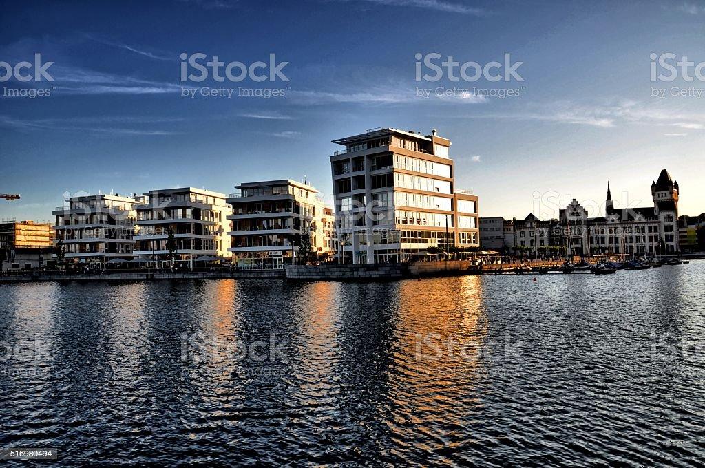 Phoenixsee Dortmund stock photo