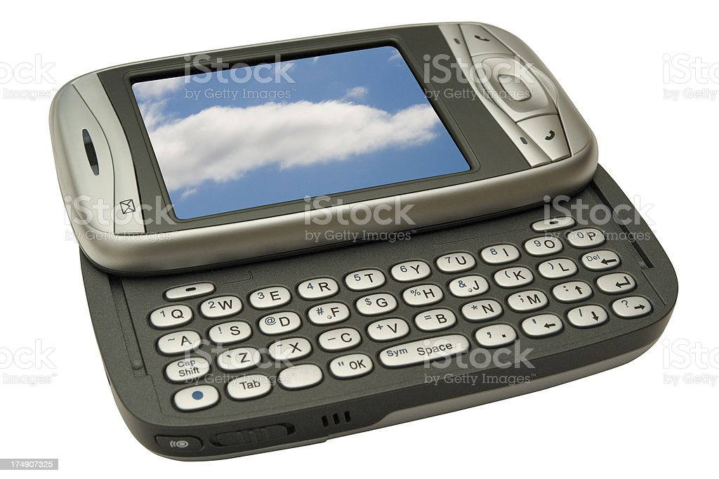 PDA Phone (with 2 clipping paths) add your own image royalty-free stock photo