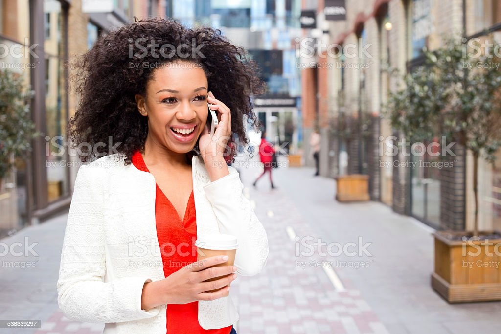 phone and coffee stock photo