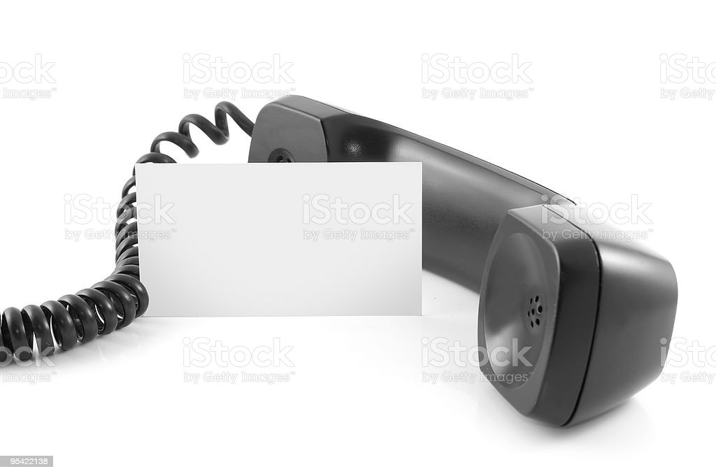 Phone and empty card. royalty-free stock photo