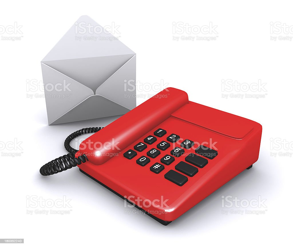 phone and letter, call us, contact center royalty-free stock photo