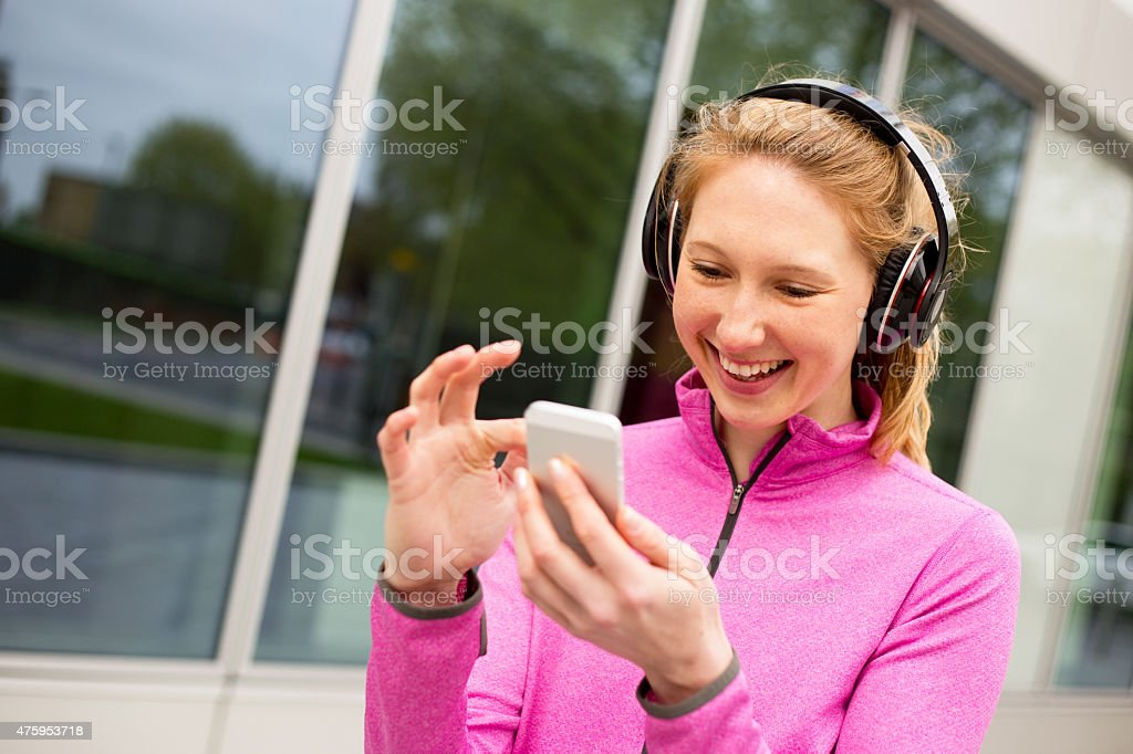 phone and music royalty-free stock photo